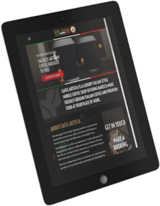 iPad optimised website design