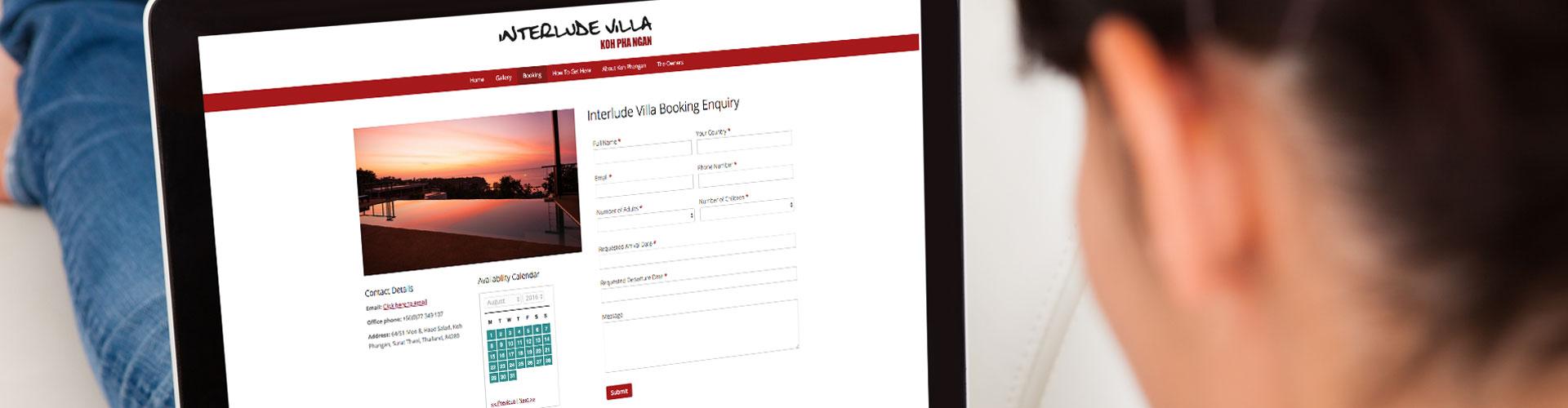 rent my villa website design