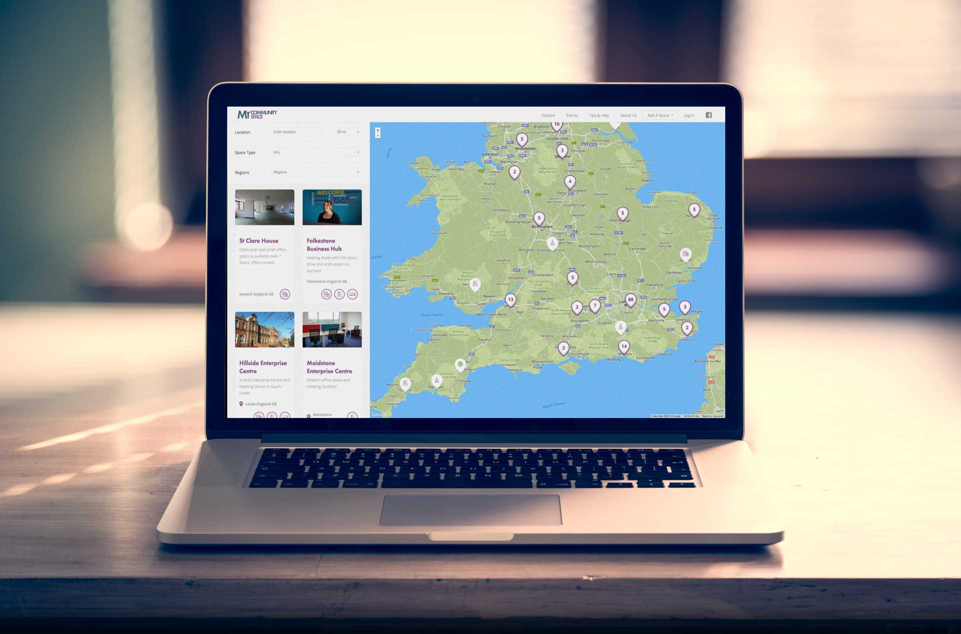 location based website design kent